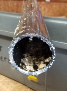 Pipe shown after using Bioclean.